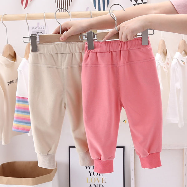 Girls Bottons Casual Pocket Pants Wholesale Clothing For Girls
