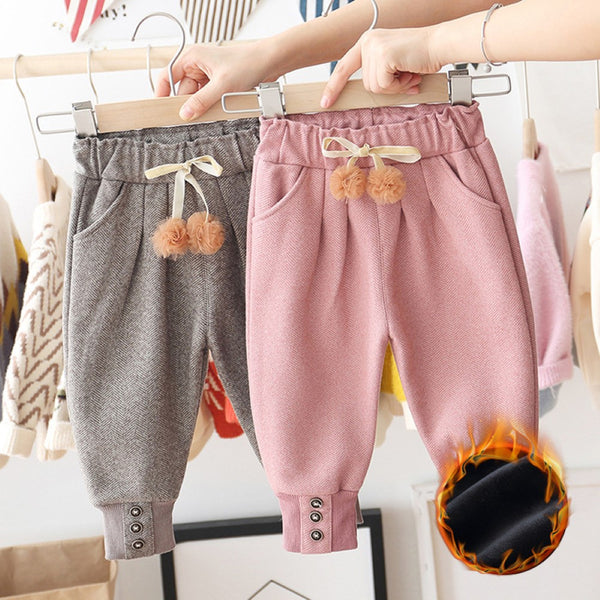 Girls Bottons Lace Tie Feet Pants Wholesale Little Girls Clothes