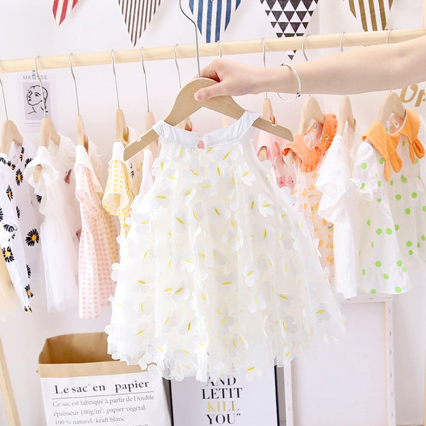 Girls Butterflys Printed Bow Dress Wholesale Girl Dresses