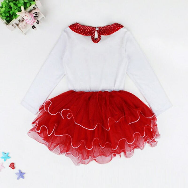 Girls Christmas Letter Printed Dress Girls Dress Wholesale
