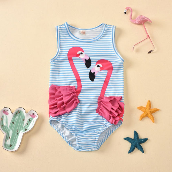 Girls Flamingo One-Piece Romper Swimsuit Toddler Girl Swimwear & Beachwear Toddler One Piece Swimsuit