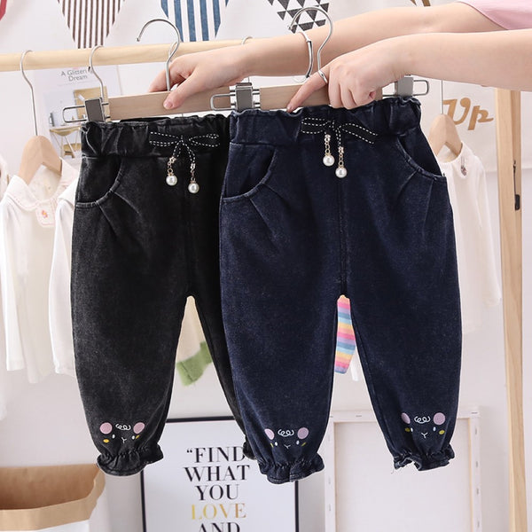 Girls Lace Trendy Leisure Denim Girls Clothing Wholesale