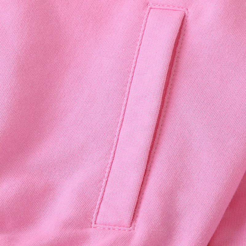 Girls Long Sleeve Solid Color Zipper Coat Wholesale Little Girl Boutique Clothing