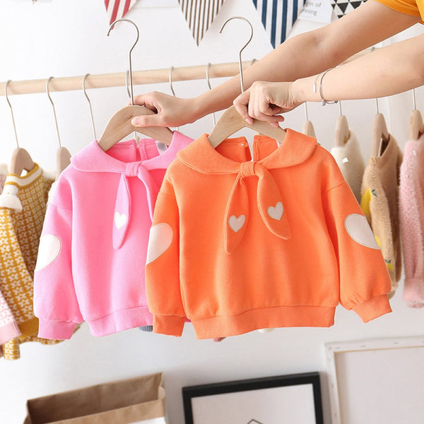 Girls Love Printed Cute Long Sleeve T-Shirt Girls Clothing Wholesale