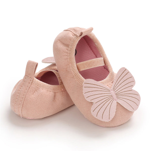 Baby Girls Slip On Butterfly Soft Flats Kids Wholesale Shoes