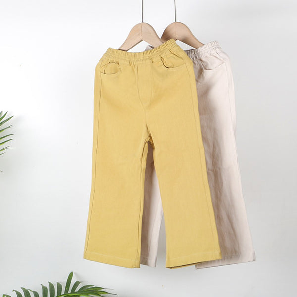 Girls Solid Color Casual Pants Baby Girl Wholesale