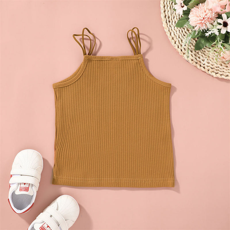 Girls Solid Color Fashion Tank Tops Wholesale Girl Boutique Clothing