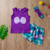 Girls Summer Girls' Printed Sleeveless T-Shirt & Shorts Girl Boutique Clothing Wholesale