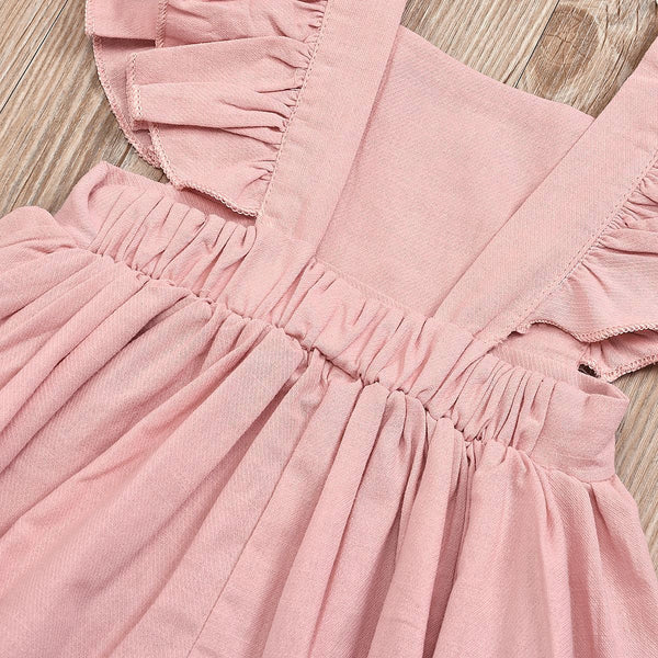 Girls Summer Girls' Solid Dress Girl Wholesale Boutique Clothing