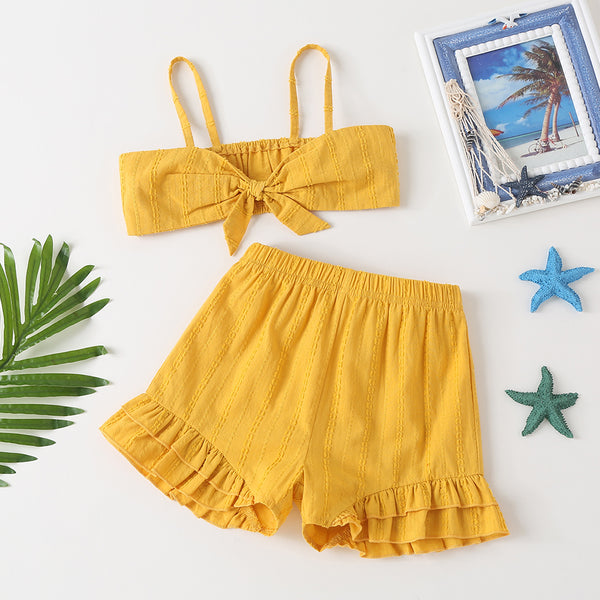 Girls Summer Suit Loose Kids College Style Trendy Kids Wholesale Clothing