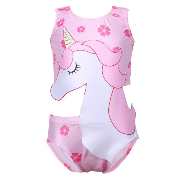 Girls' Unicorn Printed Swimsuit Toddler One Piece Swimsuit