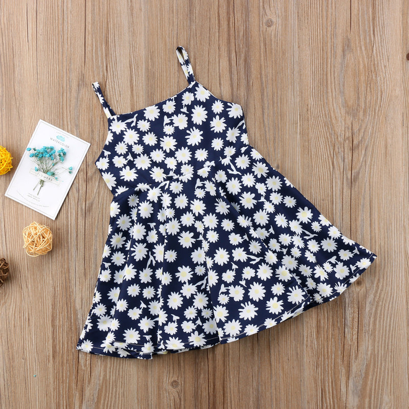 Toddler Girls Fresh Flower Suspender Skirt