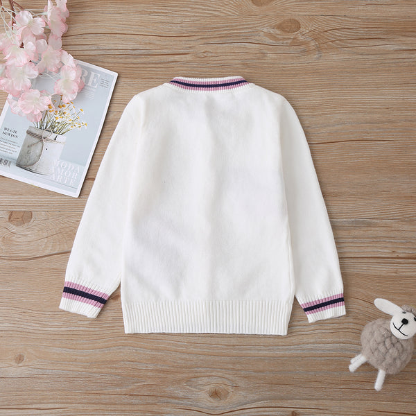 4PCS Baby Girls Have A Good Time Cartoon Long Sleeve Sweaters Baby Clothing In Bulk