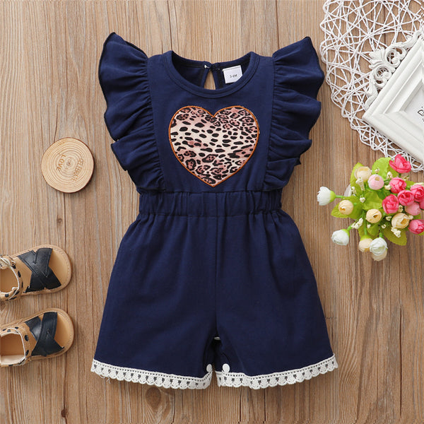 Baby Heart Leopard Printed Ruffled Casual Romper Buy Baby Clothes Wholesale