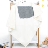 Baby Heart Printed Knitted Solid Wholesale Cute Baby Blankets