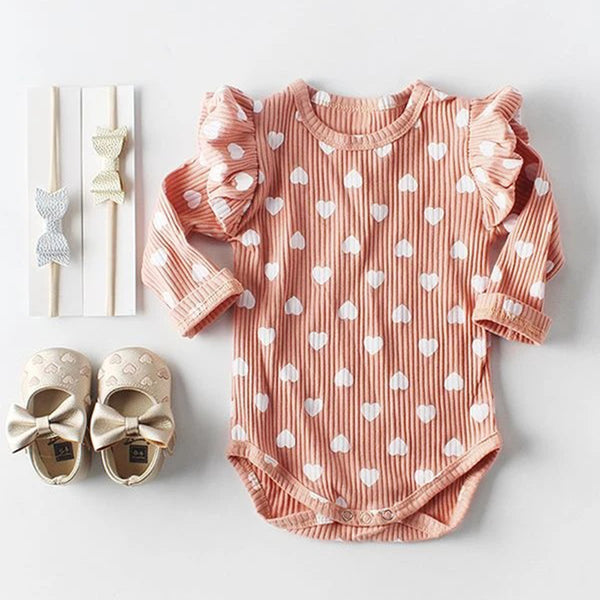 Baby Girls Heart Printed Long Sleeve Tops