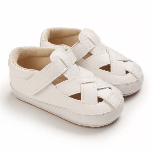 Baby Unisex Hollow Out Rubber Sole Magic Tape Sandals Baby Shoes Wholesale
