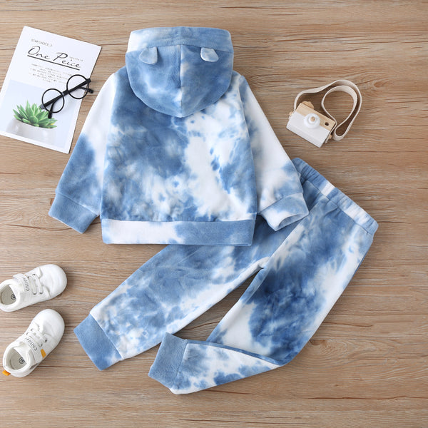 Unisex Hooded Long-sleeve Tie Dye Top & Pants Kids Clothing Suppliers