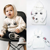 Boys Hooded Long Sleeve Animal Print Tops