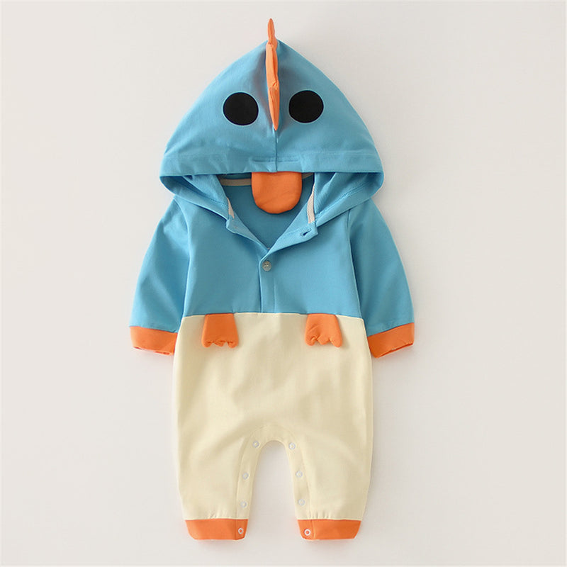 Baby Hooded Long Sleeve Chick Cute Romper