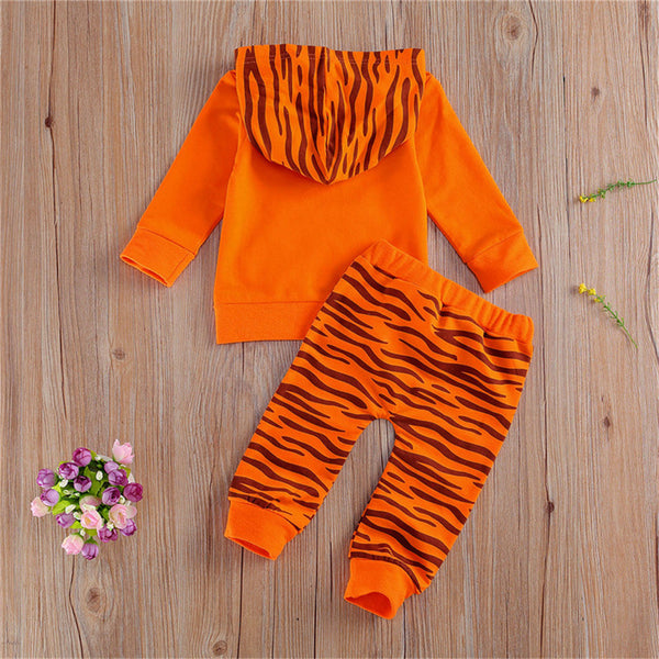 Baby Unisex Hooded Long Sleeve Tiger Cosplay Top & Pants Wholesale Baby