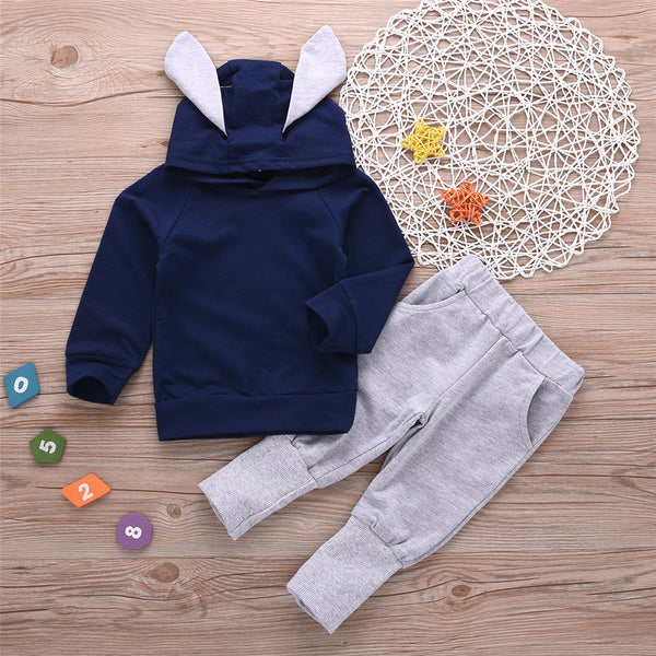 Toddler Boys Hooded Long Sleeve Top & Pants Wholesale Boys Clothes