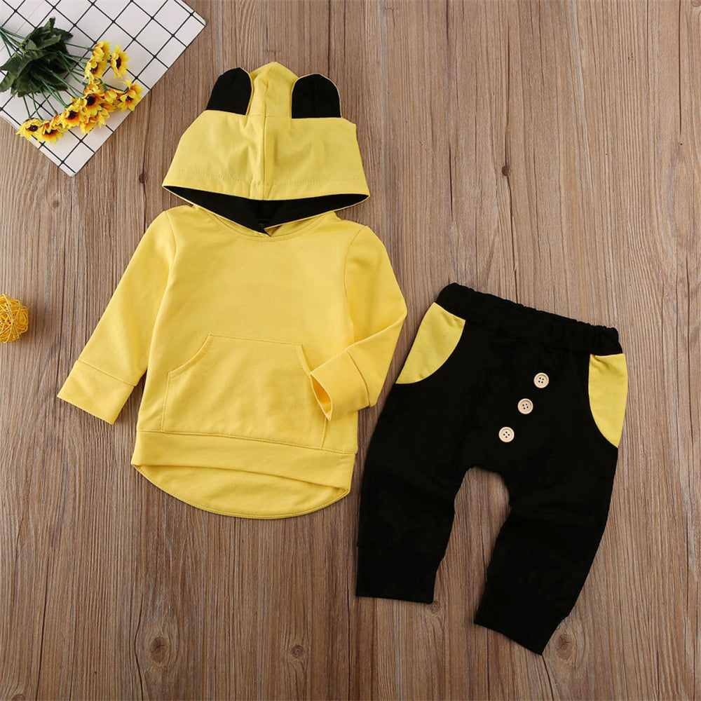 Baby Boys Hooded Long Sleeve Tops & Pants Wholesale
