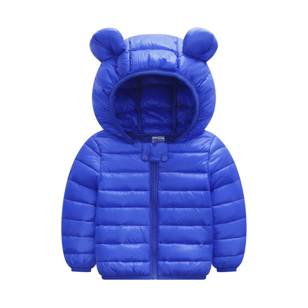 Unisex Hooded Solid Color Long Sleeve Zipper Coat Wholesale Childrens Clothing