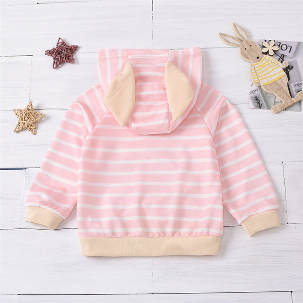 Unisex Hooded Striped Long Sleeve Top Wholesale Kids Clothing Distributors