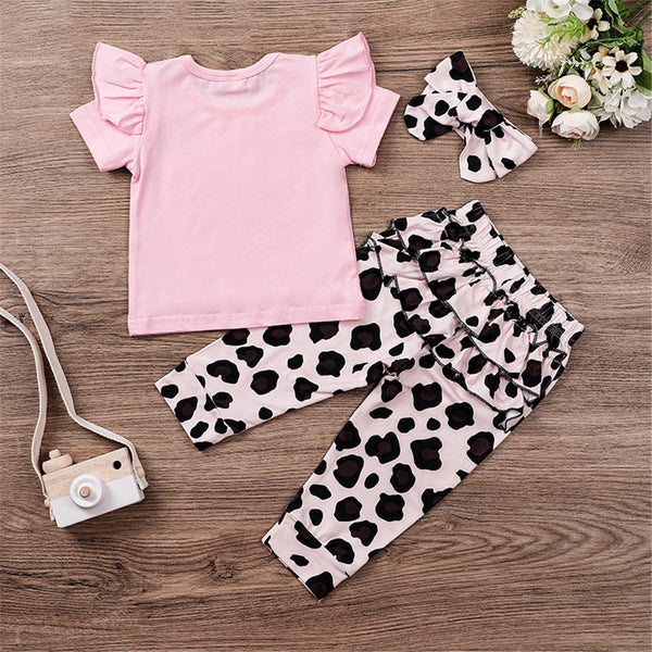 Baby Girls I Got It From My Mama Short Sleeve Top & Pants & Headband Toddler Girls Wholesale