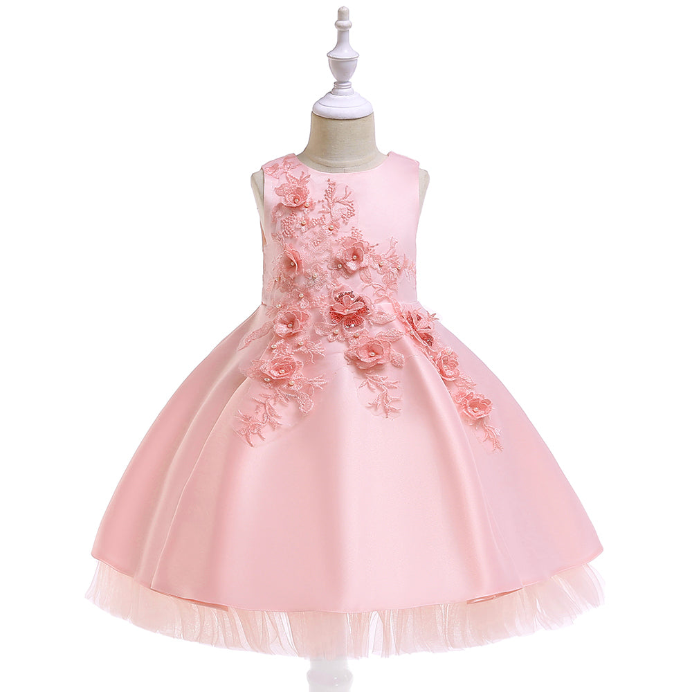 Girl Prom Evening Dress Tutu Flower Princess Dress