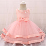 Baby Girl Lovely Princess Beaded Tulle Dress
