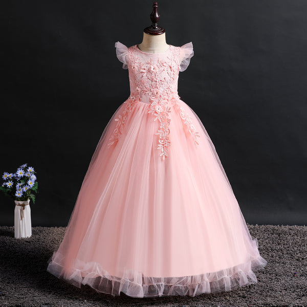 Christmas Girl Flower Wedding Princess Dress