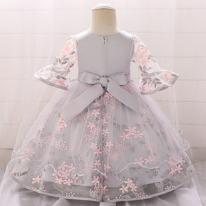 Little Girl Dress Embroidered Princess Dress Flower Girl Dress