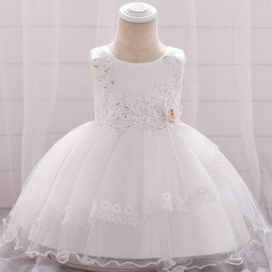Baby Girl Dress Sequined Flower Dress Embroidered Princess Dress