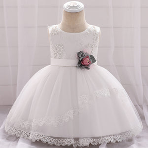 Christmas Baby Girl Dress Beaded Princess Dress Tutu Dress