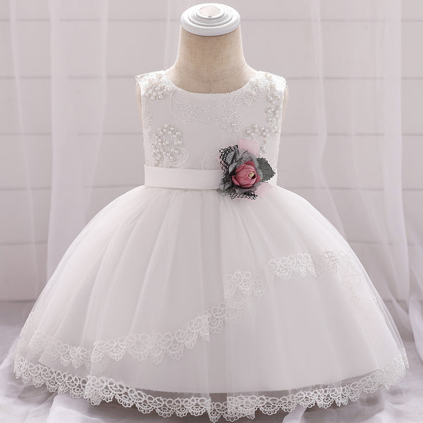 Christmas Baby Girl Beaded Princess Tutu Dress
