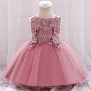 Baby Girl Butterfly Mesh Lovely Princess Dress