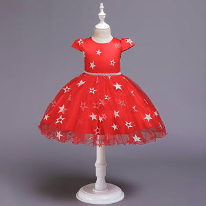 Christmas Girl Dress Princess Dress Mesh Dress Tutu Skirt
