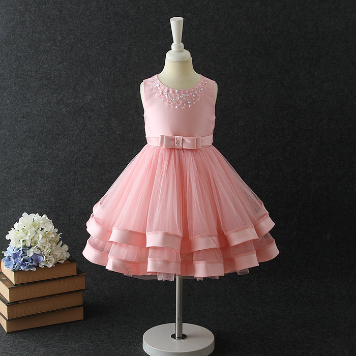 Girls Party Dress Beaded Wedding Dress Princess Dress Girl Prom Dress