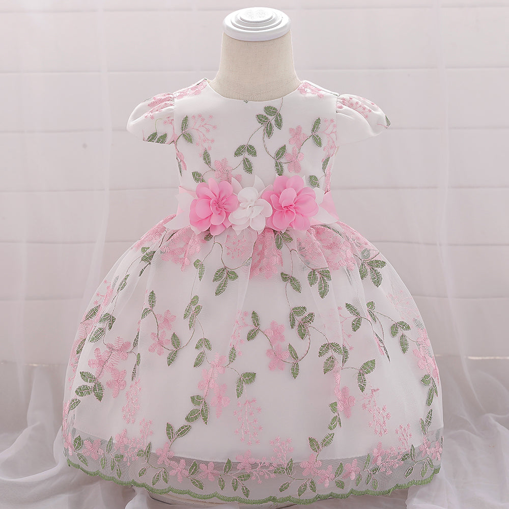 Toddler Girl Dress Princess Dress Embroidered Flower Dress