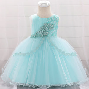Baby Girl Embroidered Mesh Tutu Dress Flower Princess Dress