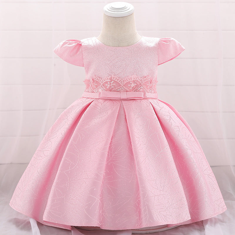 Toddler Girl Dress Satin Princess Dress Birthday Flower Girl Dress