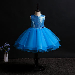 Flower Girl Dress Princess Dress Sequin Flower Tutu Girl Wedding Dress