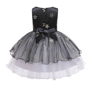 Girls Party Dress Princess Tutu Skirt Girls Star Mesh Dress With Hat