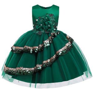 Girl Prom Dress Applique Dress Little Host Performance Dress