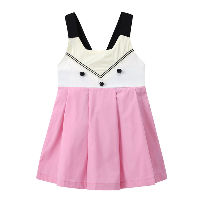 Toddler Girls Fox Suspender Skirt