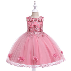 Girl's Prom Dress Flower Beaded Tutu Princess Skirt