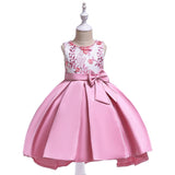 Girl Tail Catwalk Beaded Bow Dress