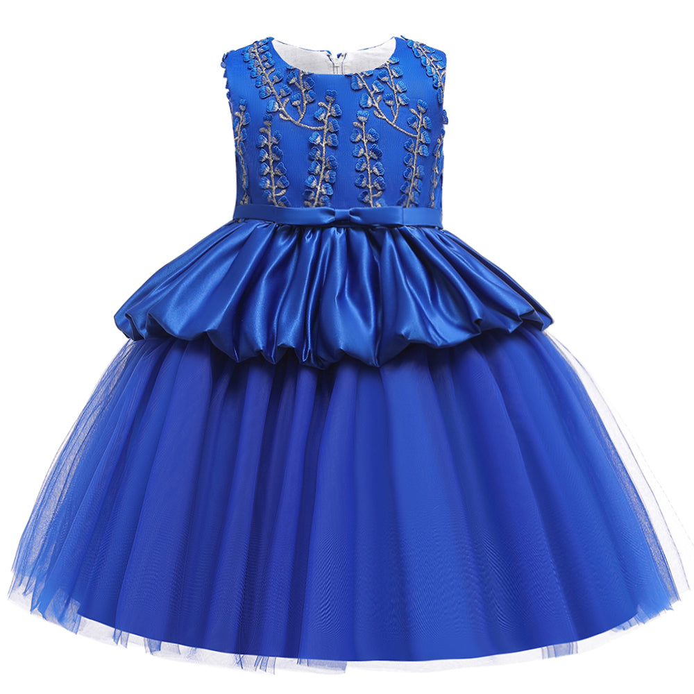 Girls Dress Princess Dress Sleeveless Embroidered Dress Show Dress